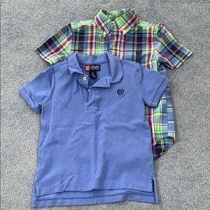 Chaps Shirts & Tops - Chaps short sleeve shirts. 4/4t.